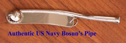 Authentic US Navy Bosun's Pipe