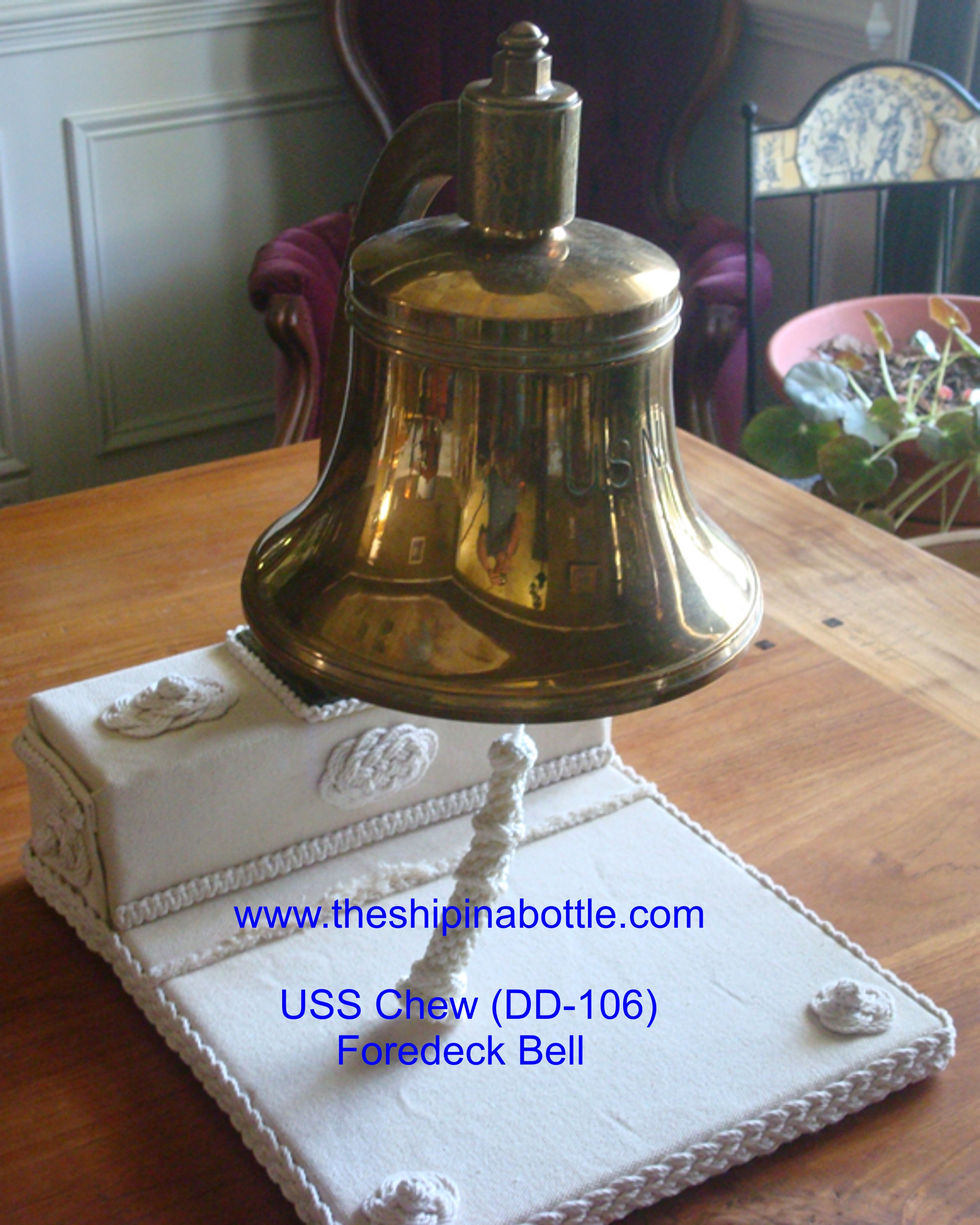 Fore Deck Anchor Bell USS Chew  DD-106