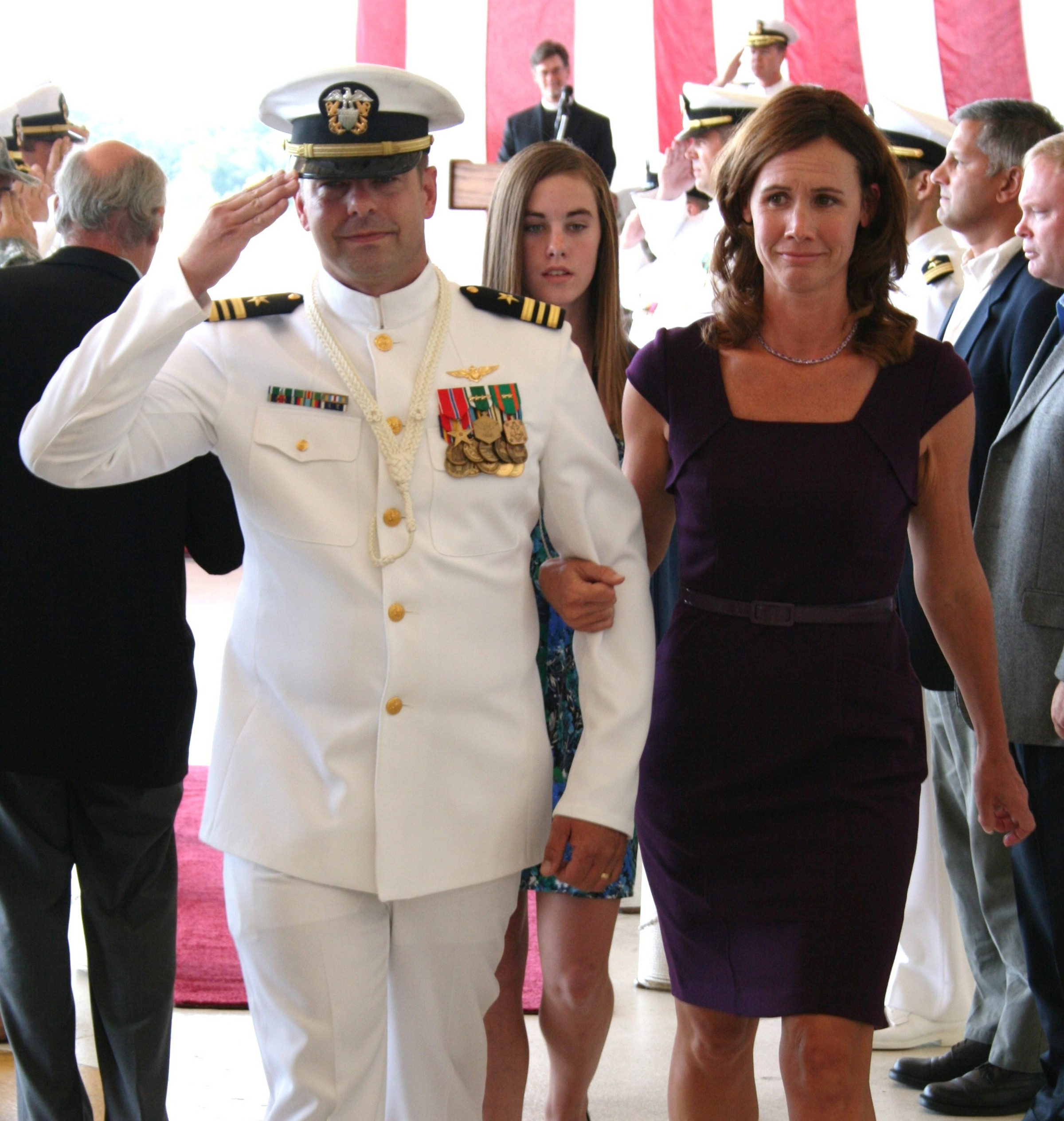 LCDR Muir and Family Retirement Ceremony