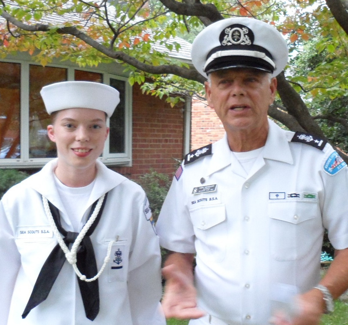 Sea Scouts Lisa and Skipper Tom