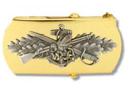 US Navy Seabee Belt Buckle - Chief Petty Officer