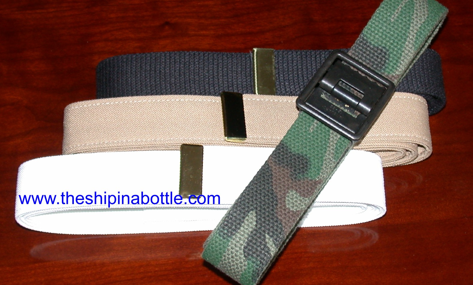 Authentic US Navy Belts - www.theshipinabottle.com