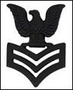E6 - First Class Petty Officer Black Finish - Cap Insignia