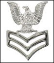 E6 - First Class Petty Officer Mirror Finish - Cap Insignia